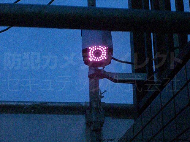 赤外線照射時