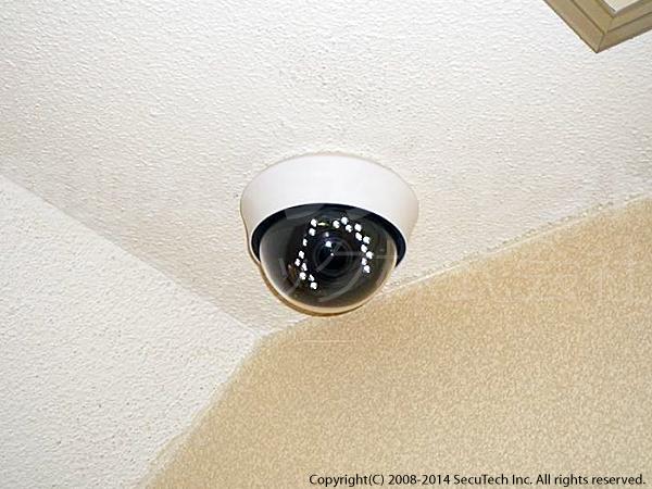 ドームカメラ設置例