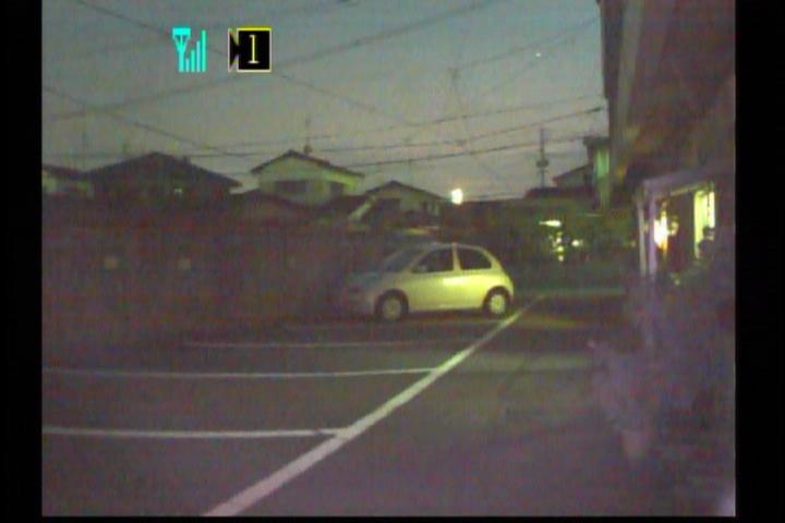 屋外での夜間撮影