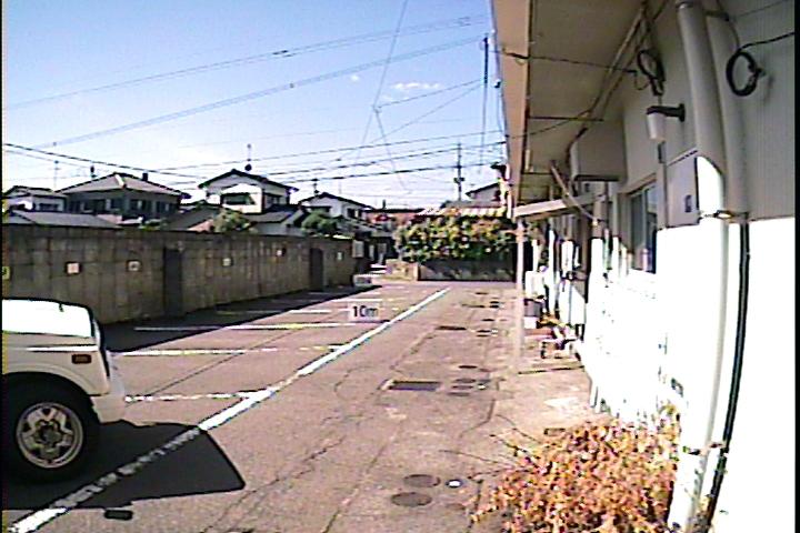 屋外での日中撮影